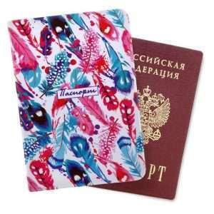 """Обложка для паспорта """"Перья"""""""