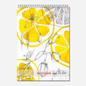 """Блокнот для зарисовок """"Sketchbook"""" (лимоны), А4, 40л"""