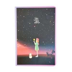 """Тетрадь """"Starry sky"""", В5 (сиреневая)"""