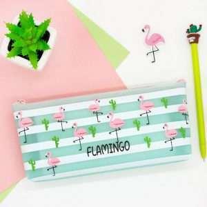 """Пенал """"Flamingo-2"""" (зеленый)"""