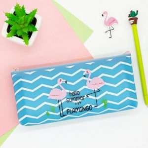 """Пенал """"Flamingo-2"""" (голубой)"""