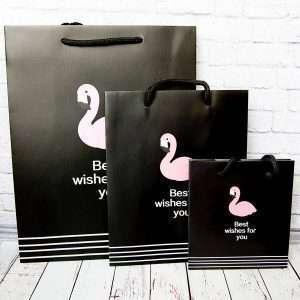 """Пакет """"Flamingo"""", маленький (черный)"""