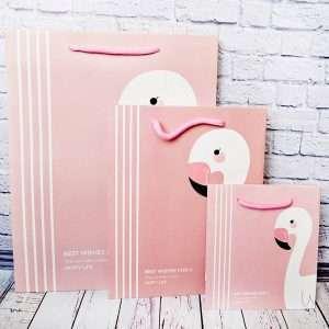"""Пакет """"Flamingo"""", средний (розовый)"""