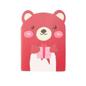 """Блокнот """"Cute friends"""" (красный медведь)"""