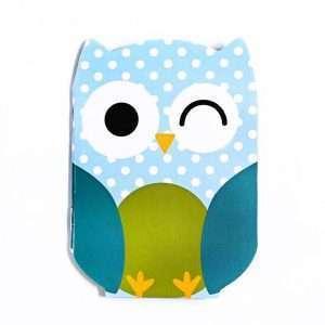 """Блокнот """"Сute owl"""" (голубой в горох)"""