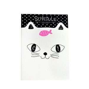 """Блокнот """"Cats"""" (белый кот с рыбкой)"""