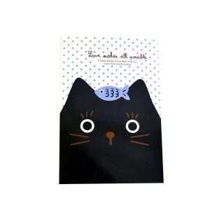 """Блокнот """"Cats"""" (черный кот с рыбкой)"""