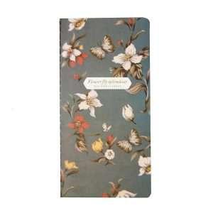 """Блокнот """"Flower fly splendour"""" (темно-серый)"""