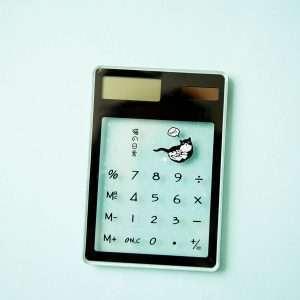 "Калькулятор прозрачный ""Cats"" (2)"