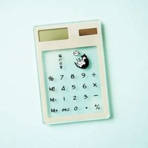 "Калькулятор прозрачный ""Cats"" (4)"