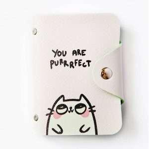 """Обложка для карт """"Cute cat"""" (белый кот)"""