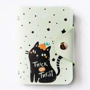 """Обложка для карт """"Cute cat""""  (черный кот)"""
