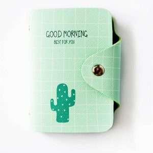 """Обложка для карт """"Good morning"""" (зеленая)"""
