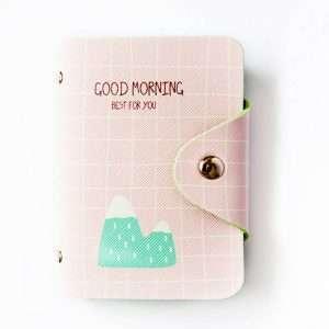 """Обложка для карт """"Good morning"""" (розовая)"""