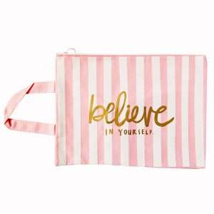 "Папка ""Pink"" на молнии с ручками, А4 (believe)"