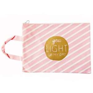 """Папка """"Pink"""" на молнии с ручками, А4 (light)"""