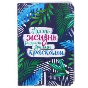 """Обложка для паспорта """"Пусть жизнь заиграет красками"""""""