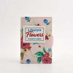 """Обложка для карт """"Flowers"""" (розовая)"""