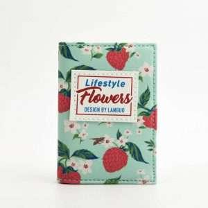 """Обложка для карт """"Flowers"""" (зеленая)"""