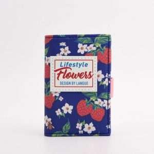 """Обложка для карт """"Flowers"""" (синяя)"""