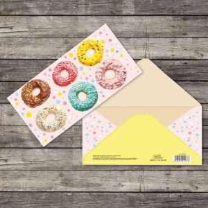 Открытка–конверт «Пончики»