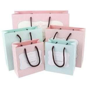"""Пакет подарочный """"Strip"""", средний (мятный)"""