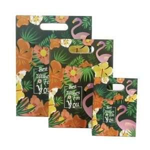 """Пакет подарочный на липучке """"Tropical flamingo"""" (большой)"""