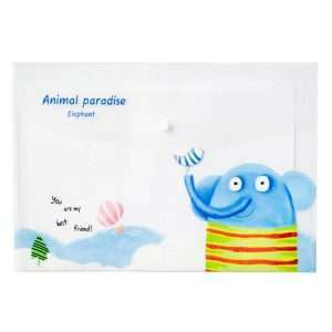 "Папка-конверт на кнопке ""Animal paradise"", А4 (слон)"