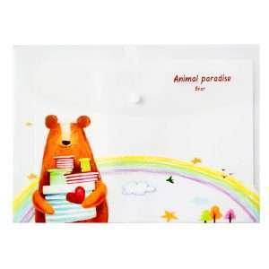 "Папка-конверт на кнопке ""Animal paradise"", А4 (мишка)"