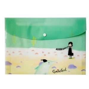"Папка-конверт на кнопке ""Smile Girl"", А4 (3)"