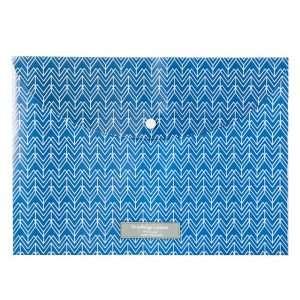 """Папка-конверт на кнопке """"Natural style"""" (синяя), А4"""