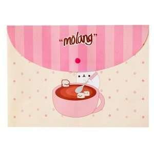 """Папка-конверт на кнопке """"Molang"""", А4 (персиковая)"""