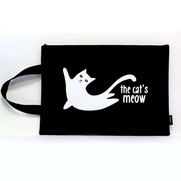 "Папка ""The cats meow"" с ручкой, А4 (3)"