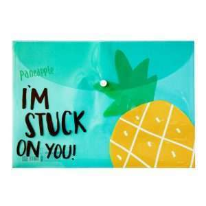 "Папка-конверт на кнопке ""Fruit -2"", А4 (ананас)"