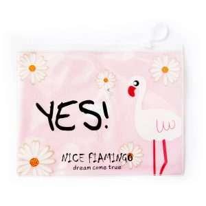 "Папка ""Фламинго"" на молнии, А4 (розовая)"