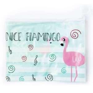 "Папка ""Фламинго"" на молнии (мятная), А5"