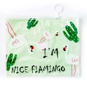 """Папка """"Фламинго"""" на молнии (зеленая), А5"""