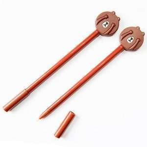 Ручка гелевая «Closed face» (коричневая)