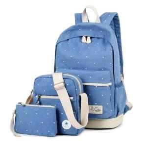 "Рюкзак+сумки ""Polka dot"" (голубой)"