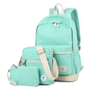 "Рюкзак+сумки ""Polka dot"" (мятный)"