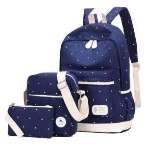 "Рюкзак+сумки ""Polka dot"" (синий)"