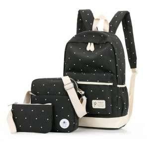 "Рюкзак+сумки ""Polka dot"" (черный)"