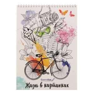 """Скетчбук """"Жизнь в картинках"""", А4"""