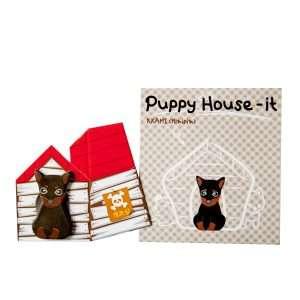"Стикеры-закладки ""Puppy house"" (серый)"