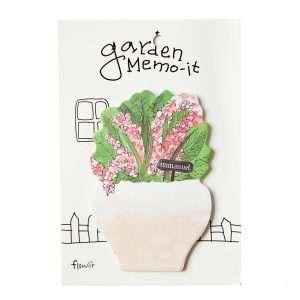 """Стикеры """"Garden memo"""" (бело-розовые цветы)"""