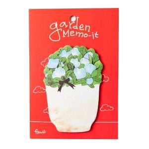 """Стикеры """"Garden memo"""" (голубые цветы)"""
