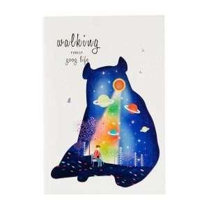 """Тетрадь """"Walking in the night"""", А5 (медведь)"""