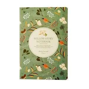 """Тетрадь """"The Willow story-2"""", А5 (темно-зеленая)"""