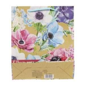 "Пакет вертикальный крафт ""Летние цветы"", 23х27х8 см"