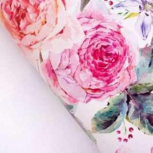 """Бумага упаковочная глянцевая """"Летние цветы"""""""